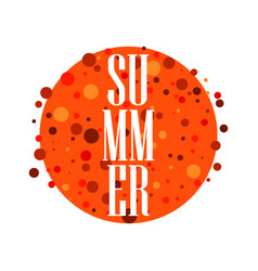 Summer emblem with the sun vertical inscription vector