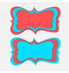 vintage banner paper cut vector image vector image