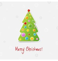 Xmas Tree Design Card vector image vector image