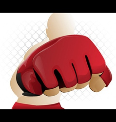 Mma fighter punch vector