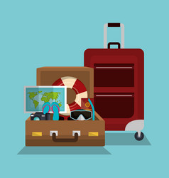 Summer vacations holidays icons vector