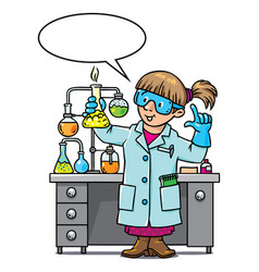 Funny chemist or scientist vector