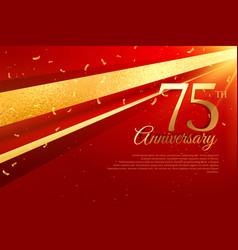 75th anniversary celebration card template vector