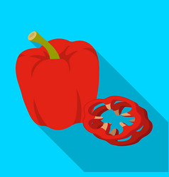 bell pepperbbq single icon in flat style vector image