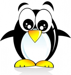 Penguin cartoon style vector