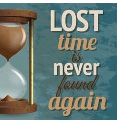 Hourglass retro poster vector image