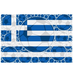 Greece soccer balls vector image