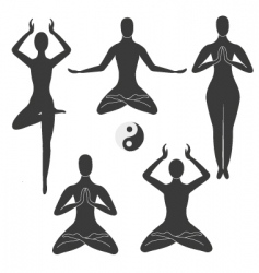meditation poses vector image
