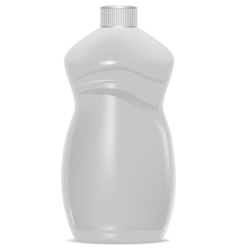 White plastic bottle template for household vector