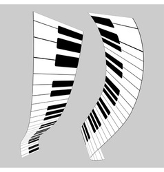 Piano keys for design vector