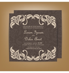 wedding invitation dark vector image