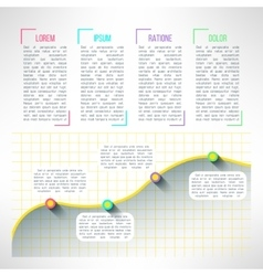 Graph infographic template chart and vector
