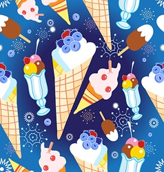 Pattern different ice cream vector