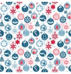 Seamless pattern with christmas balls on white vector