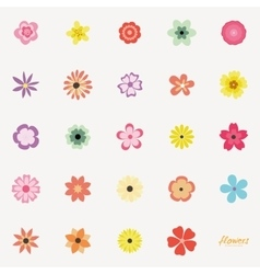 Abstract cute flowers vector