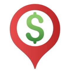 Bank map marker gradient icon vector