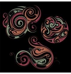 Maori style ornaments vector