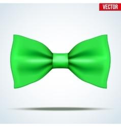 Realistic green bow tie vector