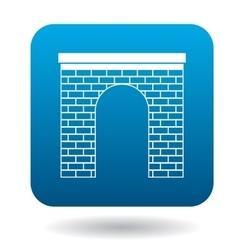 Brick arch icon simple style vector