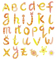 alphabet set in bright colors vector image