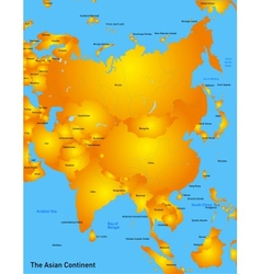 asia map vector image vector image