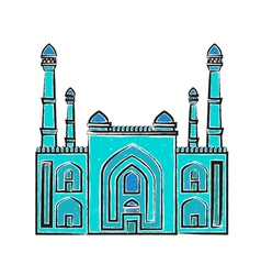 Blue Mosque iilustration vector image