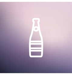 Champagne bottle thin line icon vector