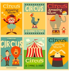 Circus posters vector
