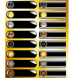 Collection of black web buttons vector