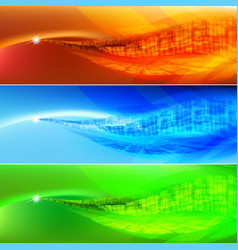 Colored wave abstract background for design vector