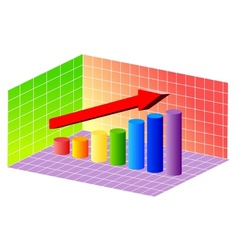 cylinder bar graph vector image