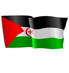 flag of Western Sahara vector image vector image