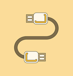 Flat icon on background usb cable vector