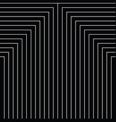Geometry black and white stripes grid pattern vector