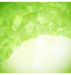 Green abstract triangles background vector