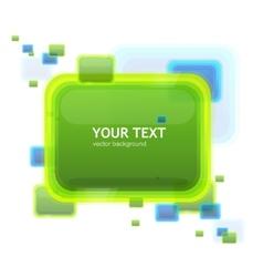 Green speech template tor your text vector