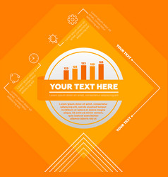 infographic template made from lines and vector image