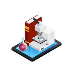 online science isometric composition vector image