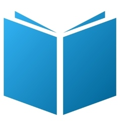 Open book gradient icon vector