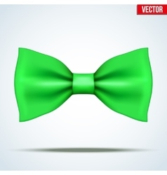 Realistic green bow tie vector
