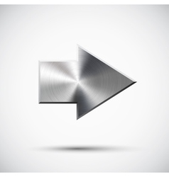 right metal arrow vector image