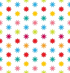 Seamless Floral Texture with Multicolored Flowers vector image vector image