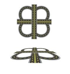 Set the transport interchange highway with yellow vector