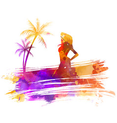 summer watercolored background vector image