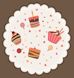 Sweet background vector