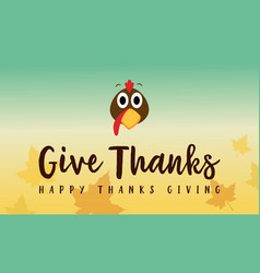 Thanksgiving with maple style greeting card vector