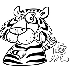 Tiger chinese horoscope sign vector