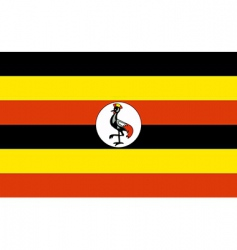 uganda flag vector image vector image