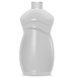 White plastic bottle template for household vector