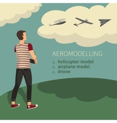 Modeling aircraft aeromodelling vector